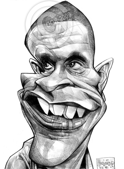 Caricature Pencil Drawings Russ Cook Caricature Pencil